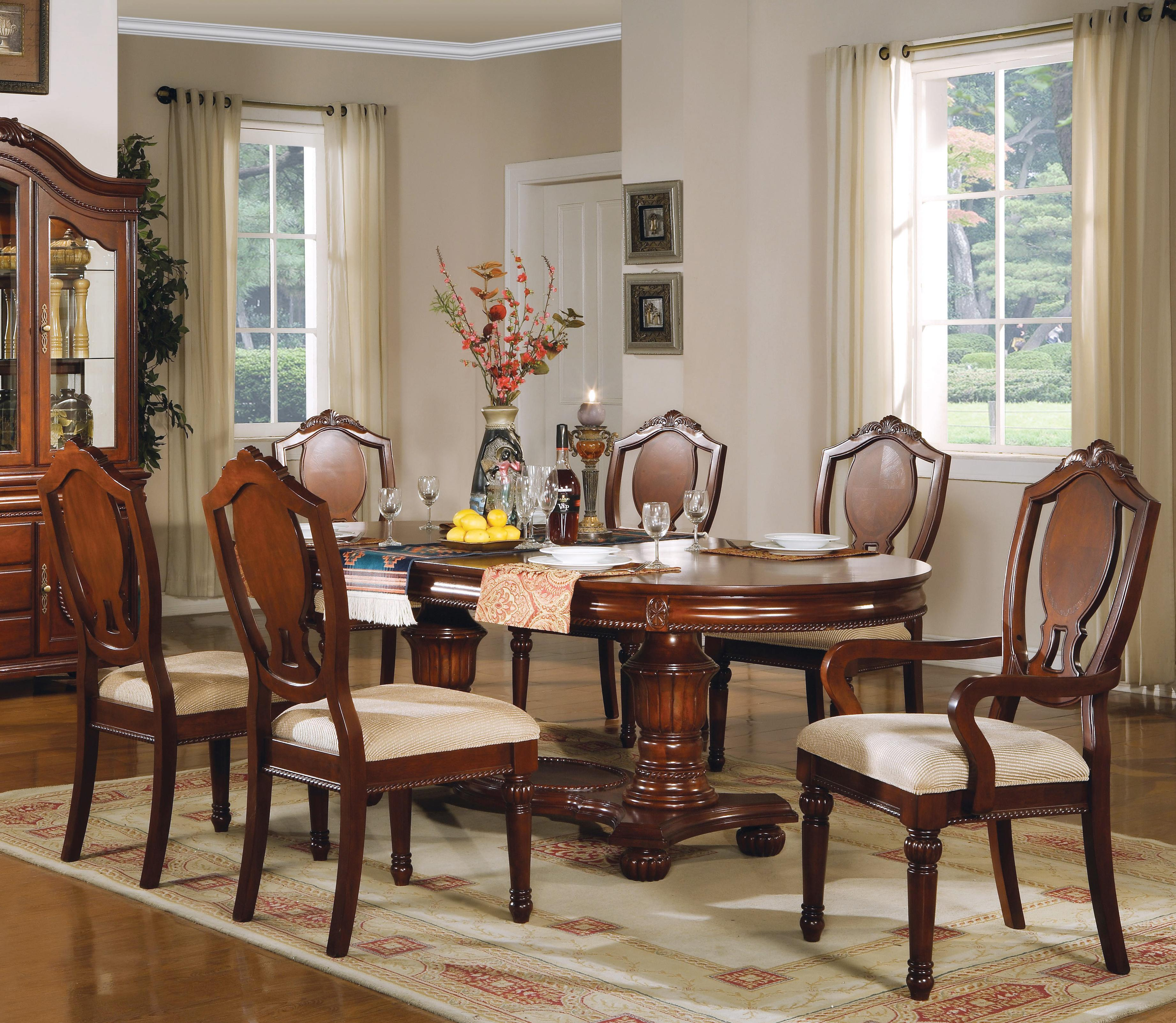 11800 7 pc Table and Chairs Set by Acme Furniture at A1 Furniture & Mattress