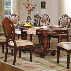 Acme Furniture 11800 Double Pedestal Table