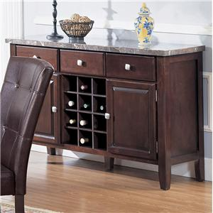 Acme Furniture 7058 Server with Marble Top