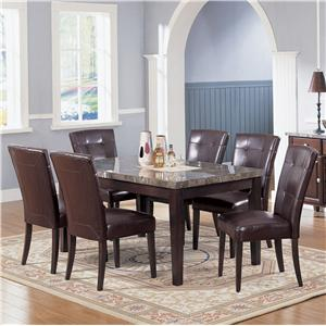 Acme Furniture 7058 Seven Piece Dining Set