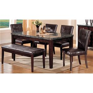 Acme Furniture Canville 6 Piece Dining Table, Chair and Bench Set