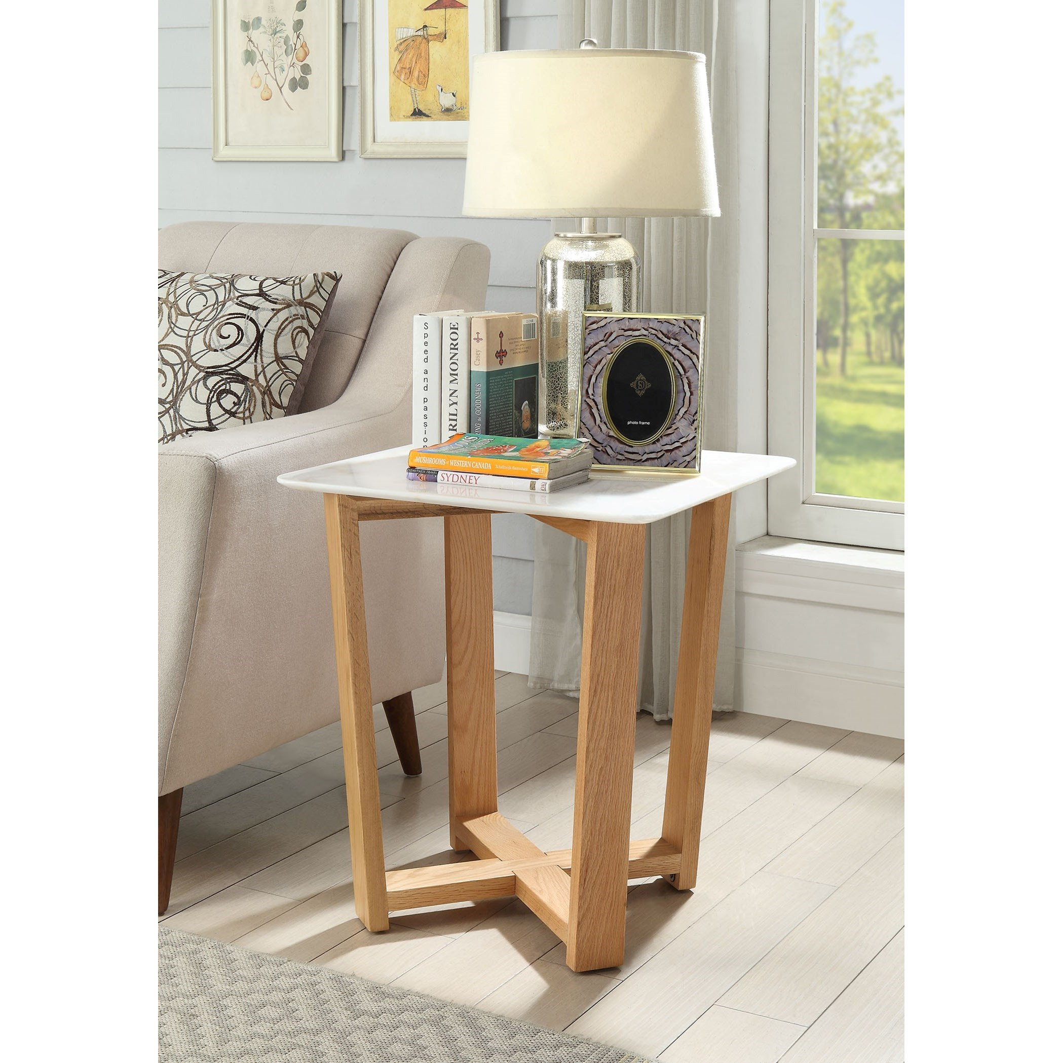 Tartan Side Table by Acme Furniture at Nassau Furniture and Mattress