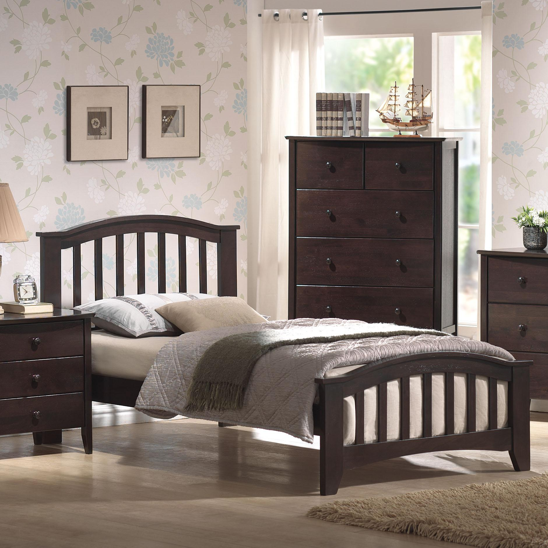 San Marino Full Slat Bed by Acme Furniture at A1 Furniture & Mattress