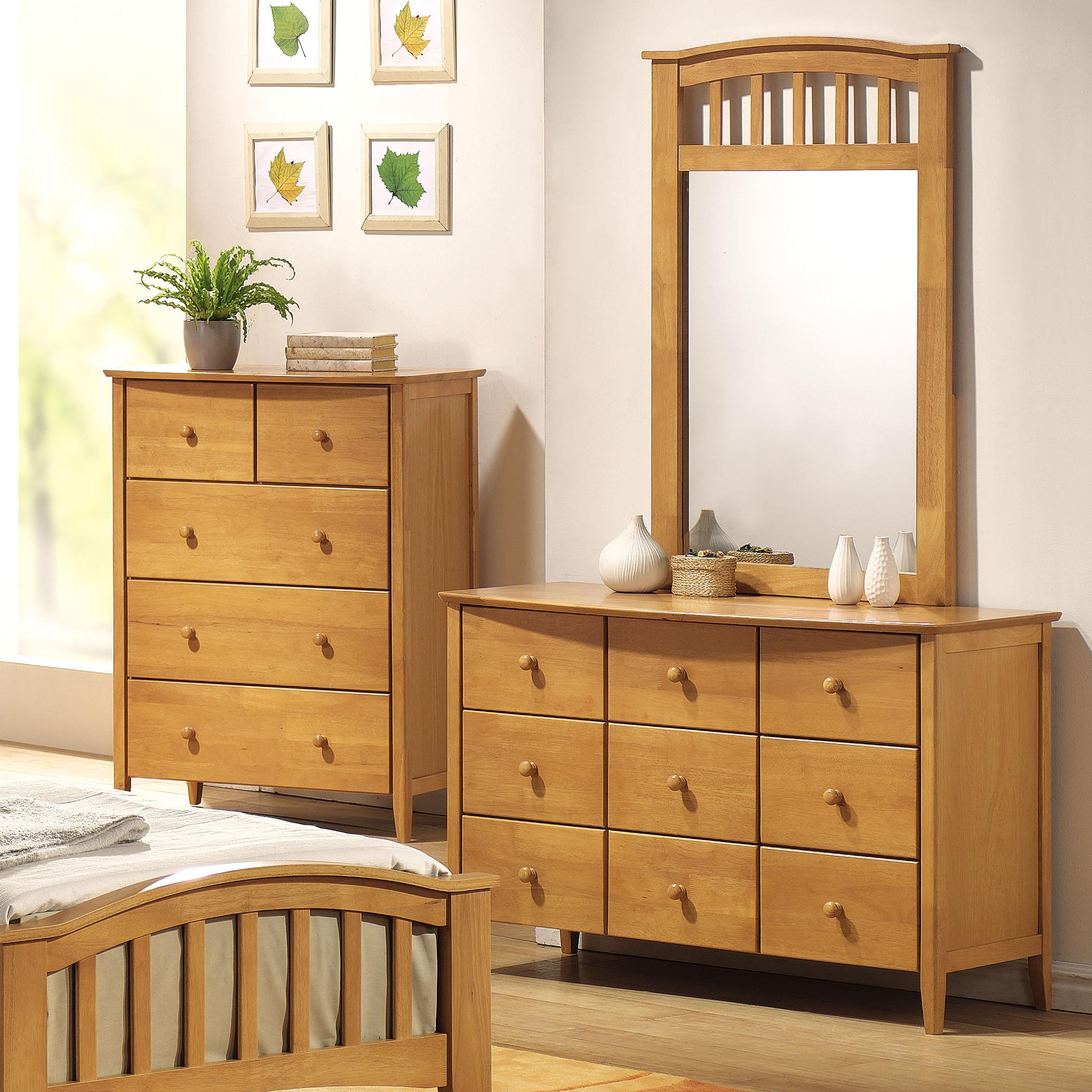 San Marino Dresser & Mirror Combo by Acme Furniture at A1 Furniture & Mattress