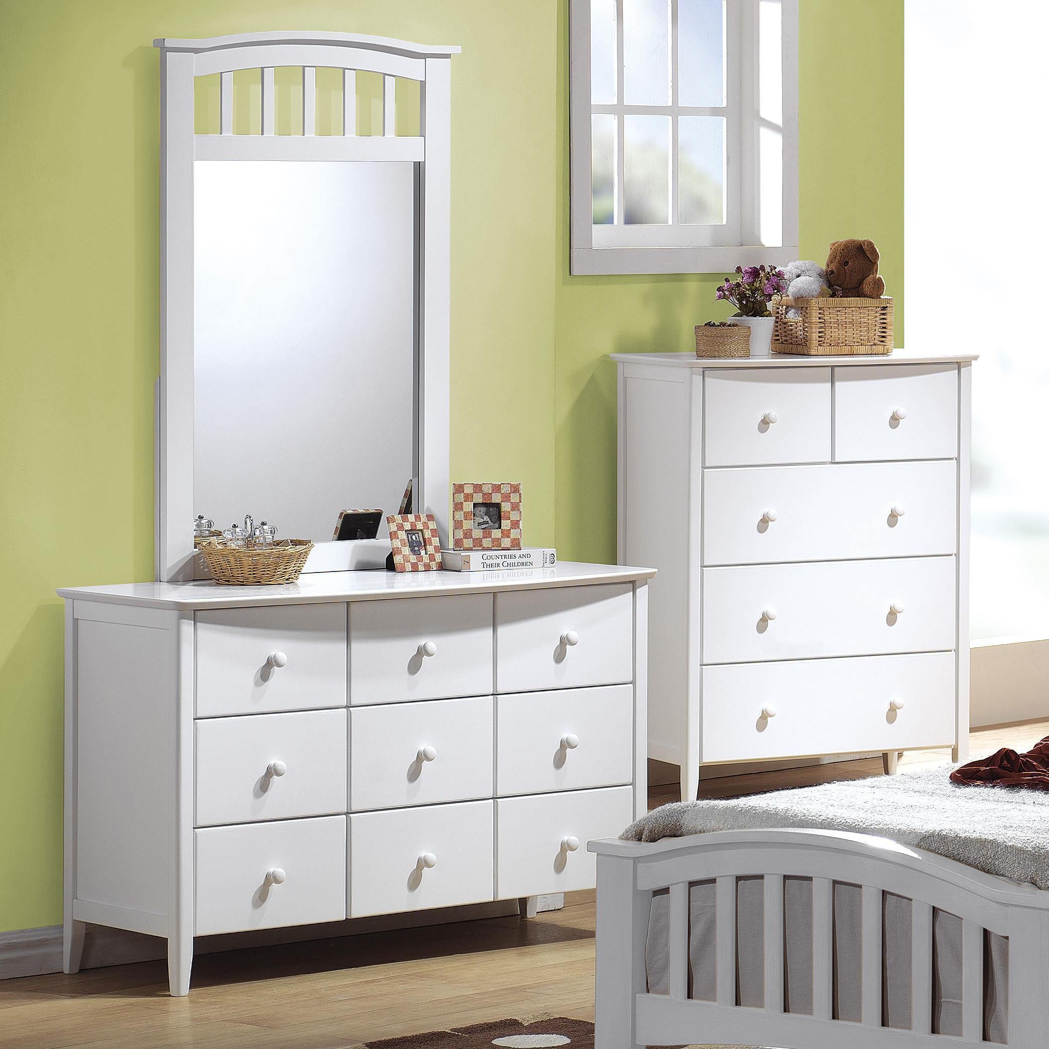 San Marino Dresser & Mirror Combo by Acme Furniture at Corner Furniture
