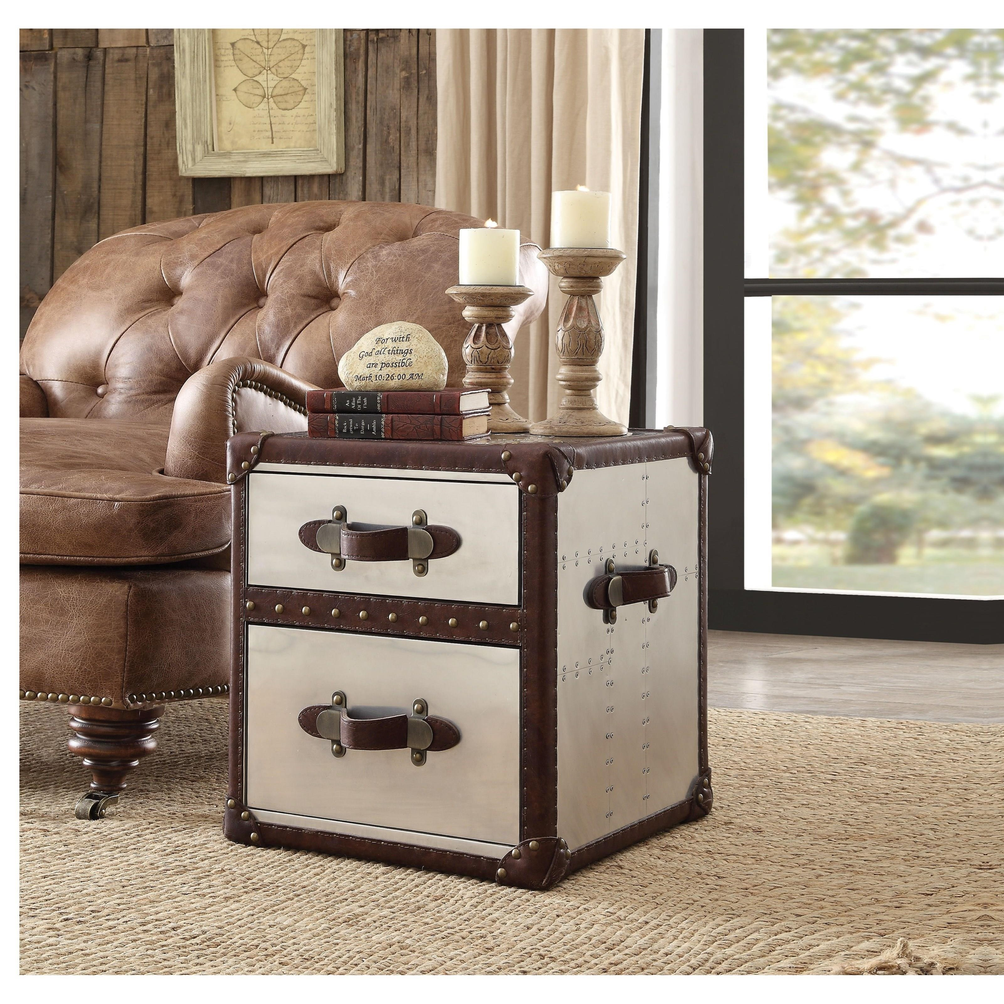 Aberdeen End Table by Acme Furniture at Corner Furniture