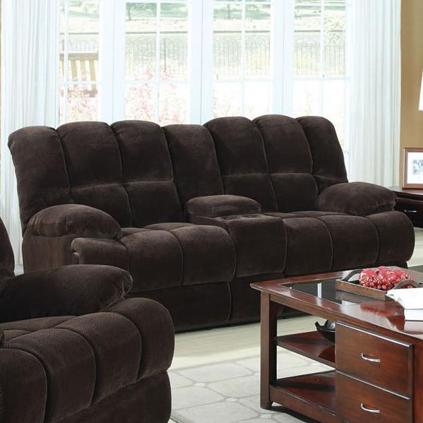 Ahearn Loveseat W/Motion & Console by Acme Furniture at A1 Furniture & Mattress