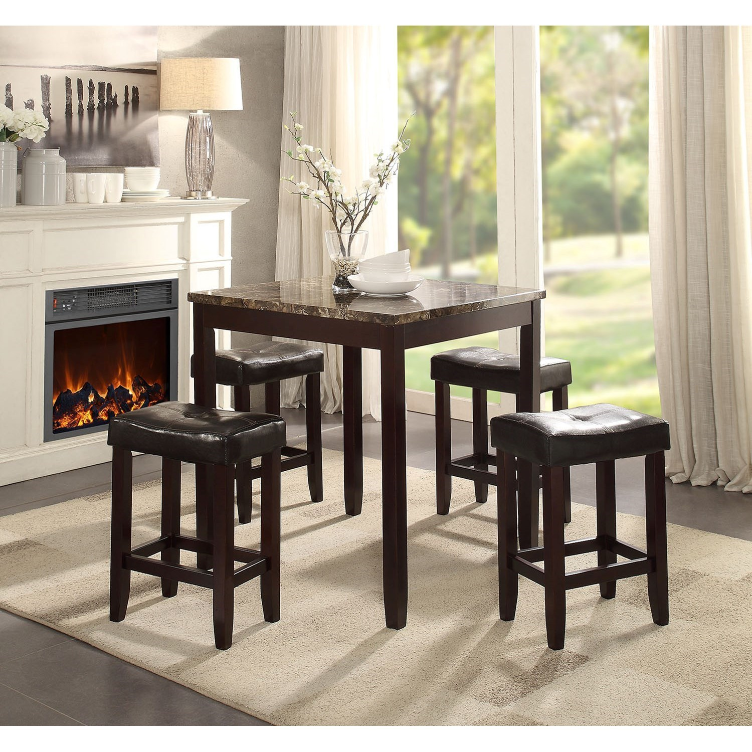 Ainsley 5Pc Pk Counter Height Set by Acme Furniture at Carolina Direct