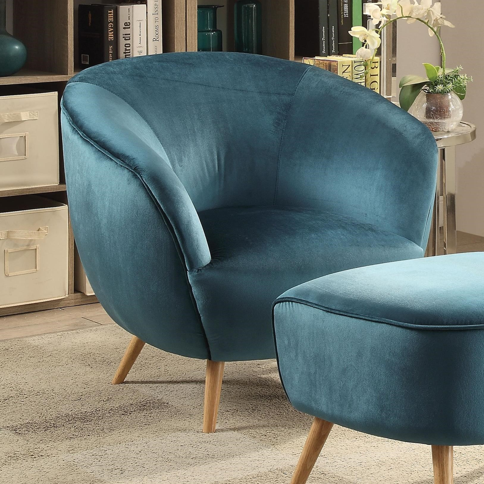 Aisling Accent Wing Chair by Acme Furniture at A1 Furniture & Mattress