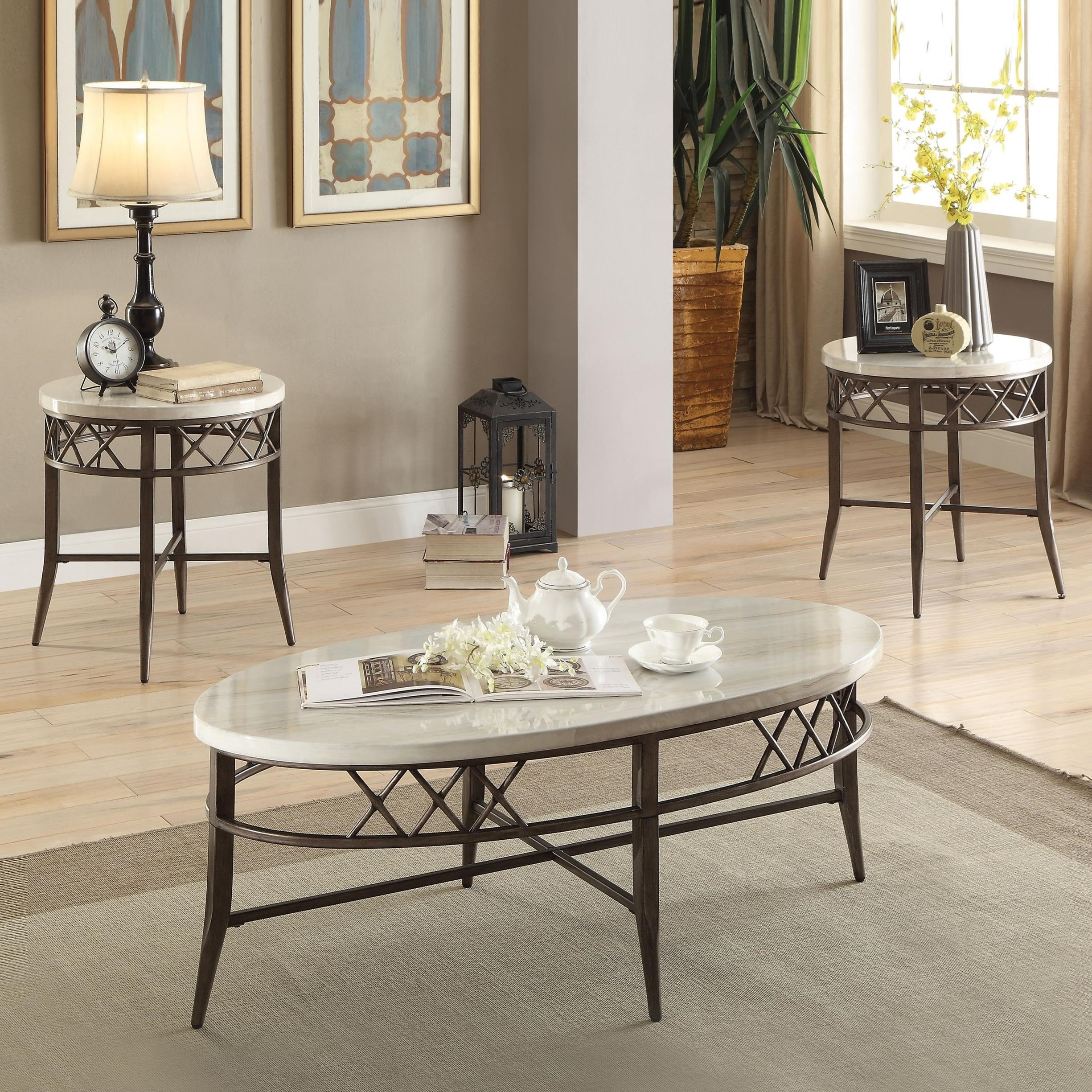 Aldric Coffee and End Table Set by Acme Furniture at Carolina Direct