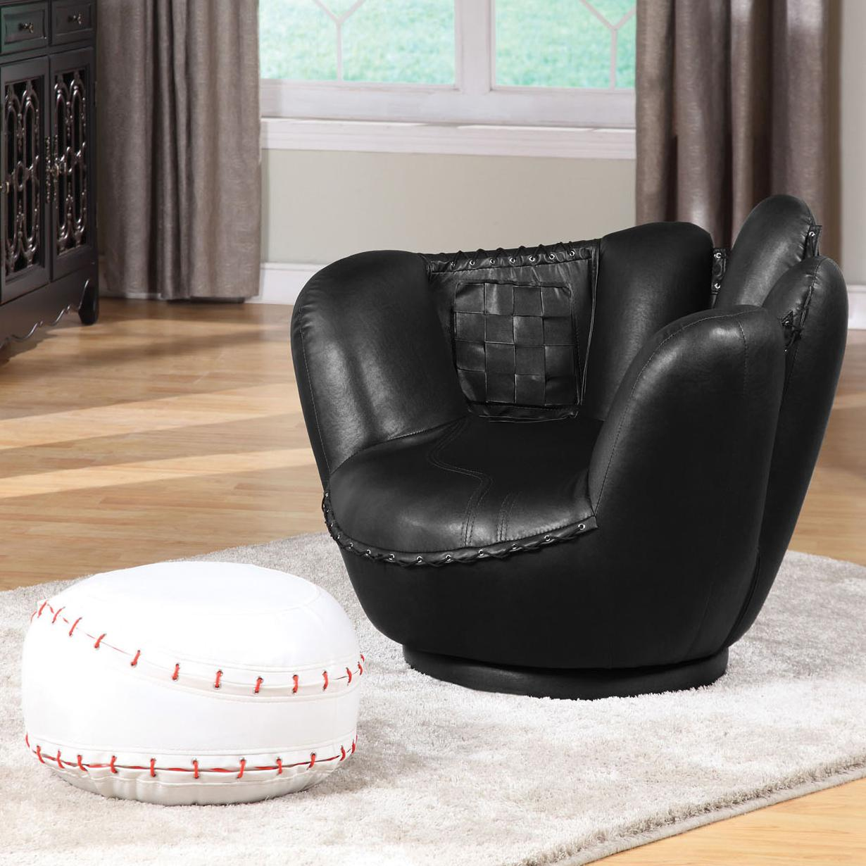 All Star 2Pc Pk Chair & Ottoman by Acme Furniture at Carolina Direct