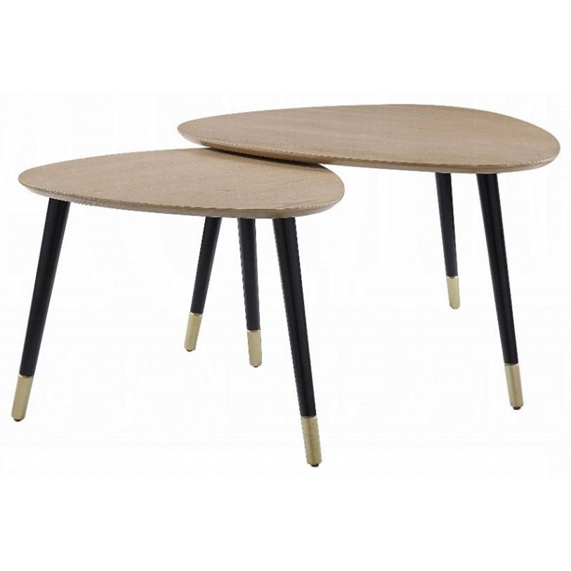 Allison 2-Pack Nesting Tables by Acme Furniture at Carolina Direct