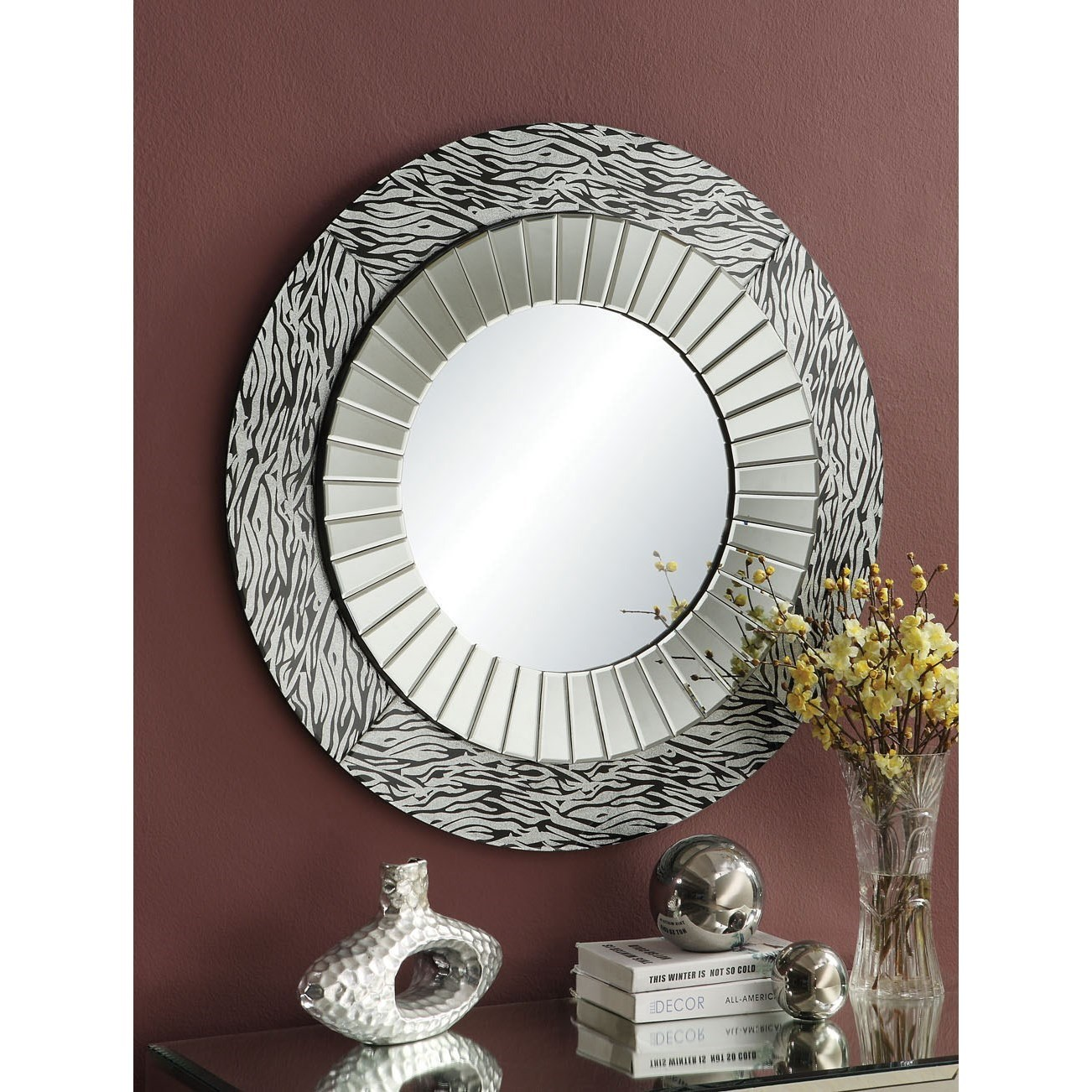 Amara Accent Mirror by Acme Furniture at Carolina Direct