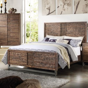 Contemporary King Bed With Metal Legs