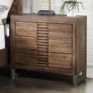 3 Drawer Nightstand with Felt Lined Top Drawer