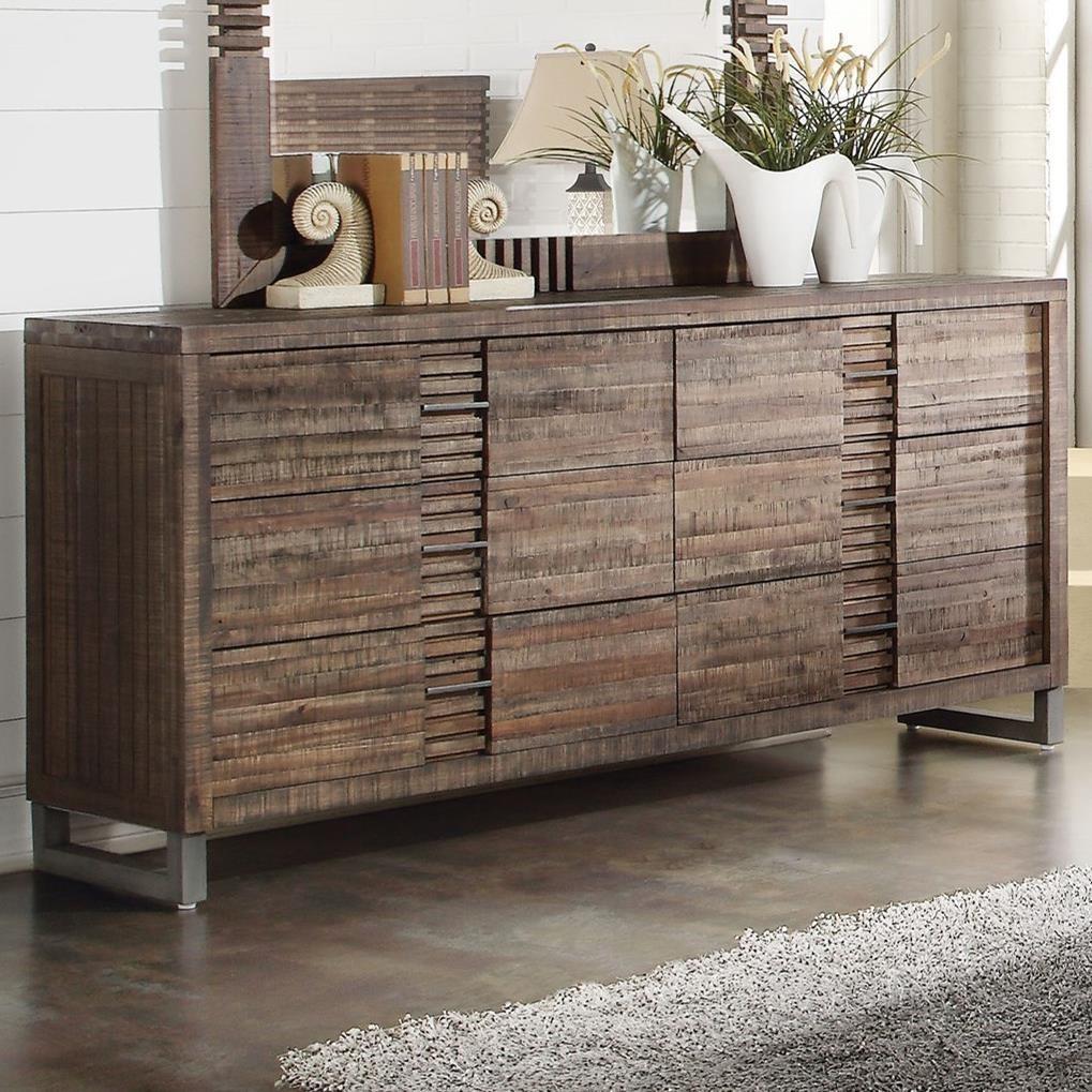 Andria 6 Drawer Dresser by Acme Furniture at Carolina Direct