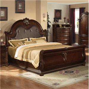 Acme Furniture Anondale Traditional King Sleigh Bed