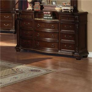 Acme Furniture Anondale Dresser W/Marble Top