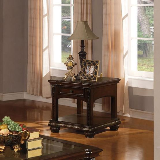 Anondale Traditional End Table by Acme Furniture at Carolina Direct