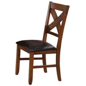 X-Back Dining Side Chair with PU Upholstered Seat