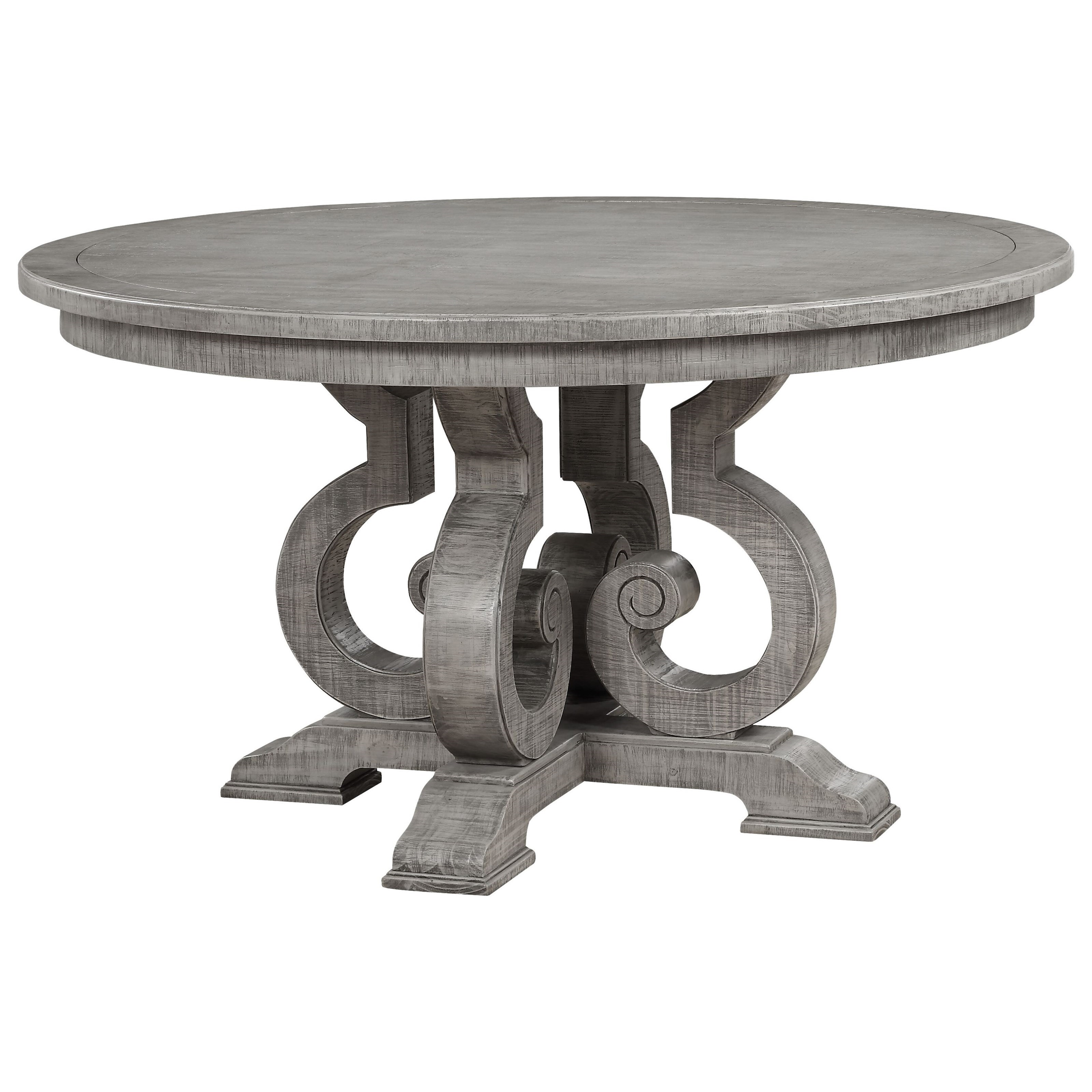 Artesia Dining Table (Round) by Acme Furniture at A1 Furniture & Mattress