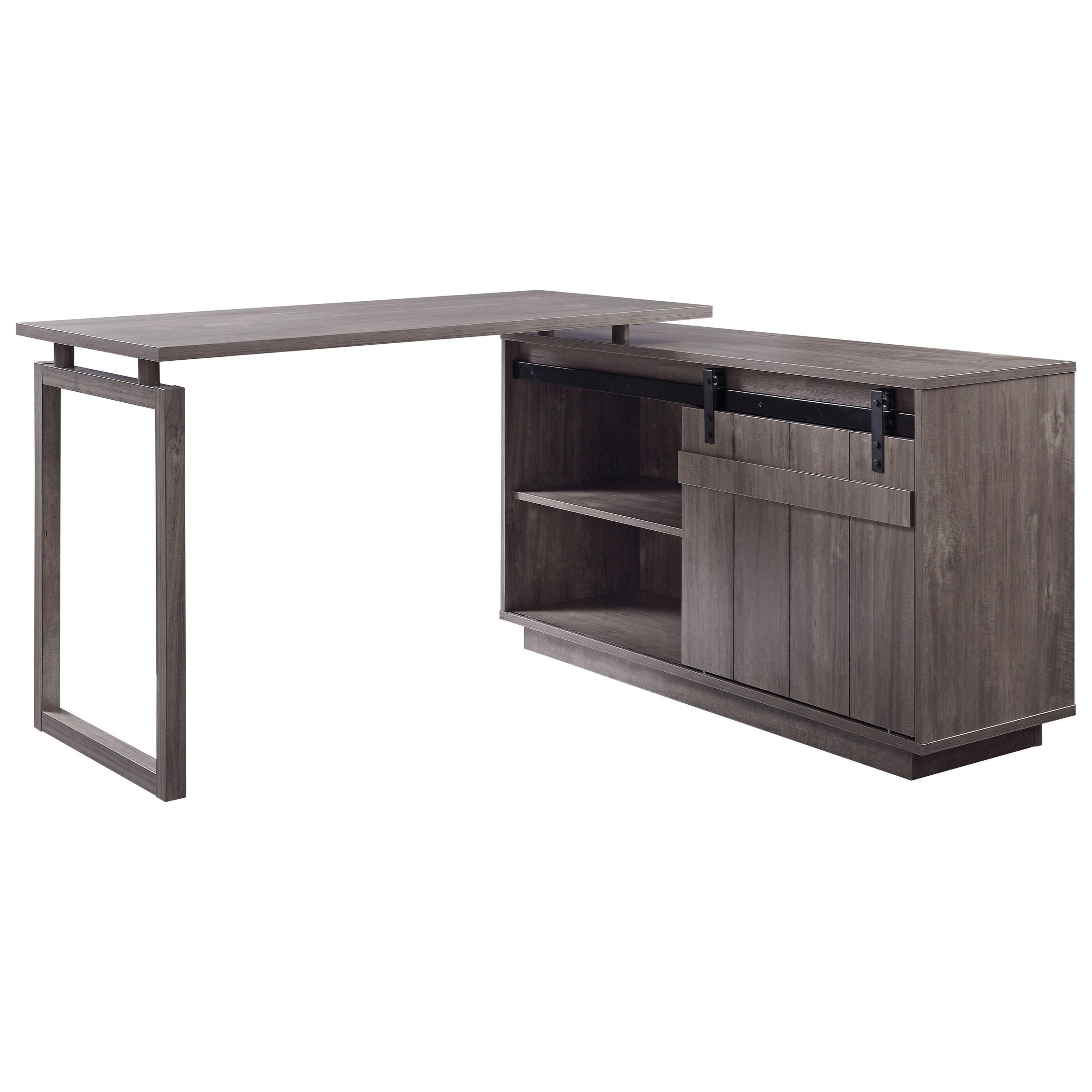 Bellarosa L-Shaped Desk by Acme Furniture at Sam Levitz Furniture