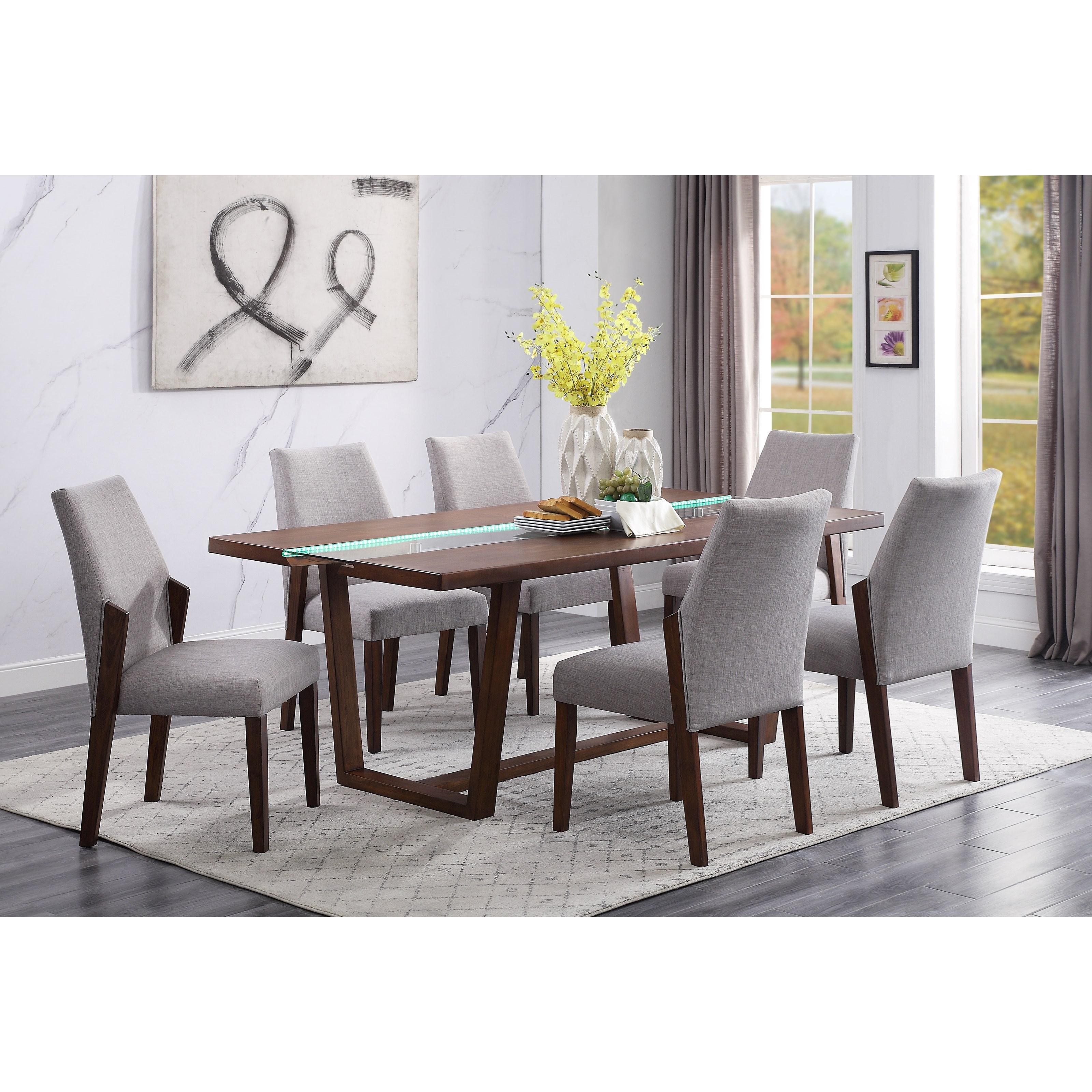 Benoit 7-Piece Dining Set by Acme Furniture at Carolina Direct