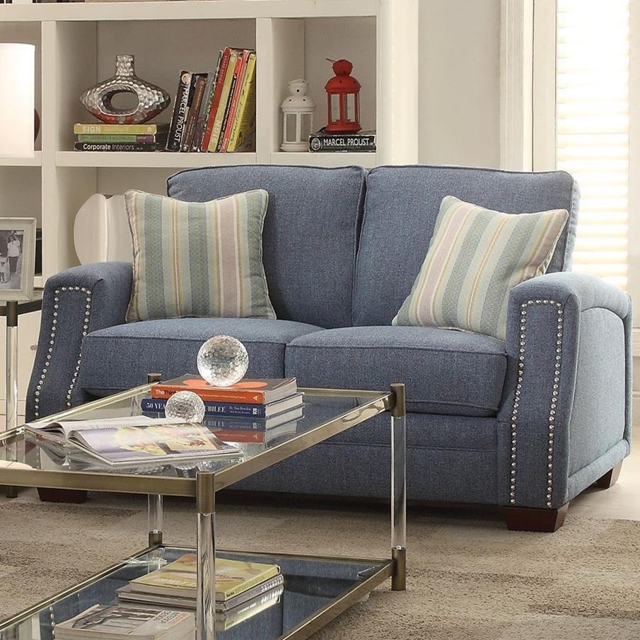 Betisa Loveseat w/2 Pillows by Acme Furniture at Carolina Direct