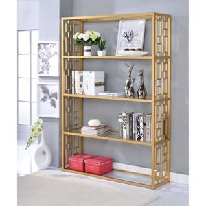Glam Bookshelf with Gold Finish