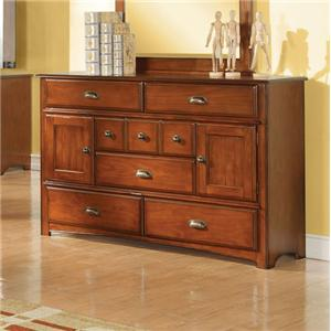 Traditional Dresser with Ten Storage Compartments