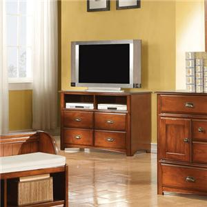 Traditional Four-Drawer TV Console