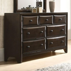 Transitional 7-Drawer Dresser