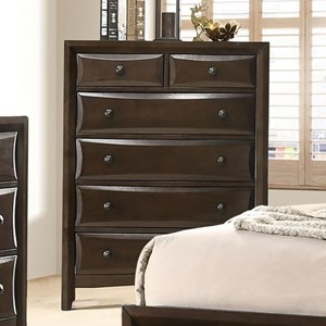 Transitional 6-Drawer Chest