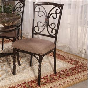 Side Chair with Decorative Back