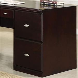 Espresso File Cabinet w/ 2 Drawers