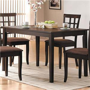 Espresso Rectangular Dining Table
