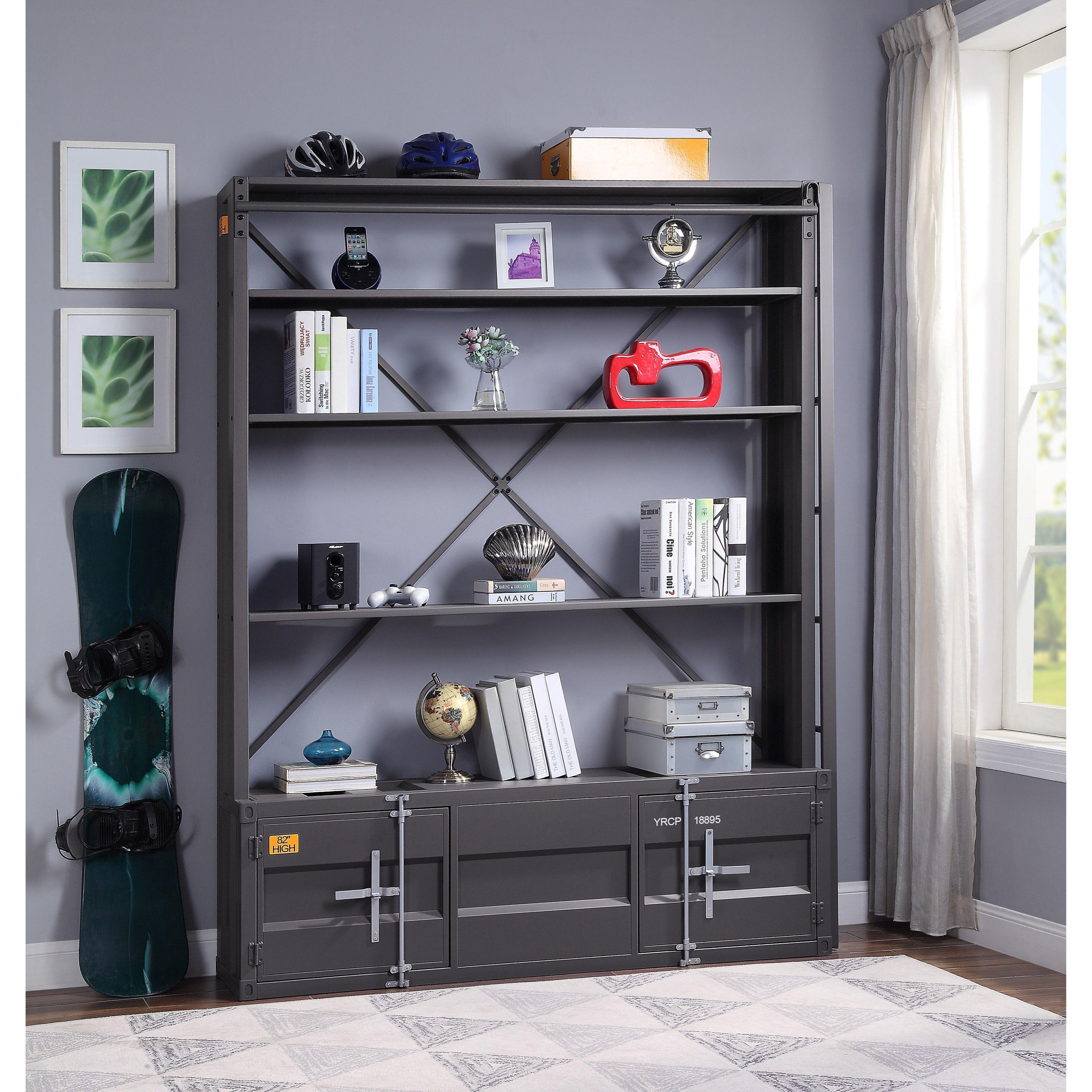 Cargo Bookshelf & Ladder by Acme Furniture at Carolina Direct