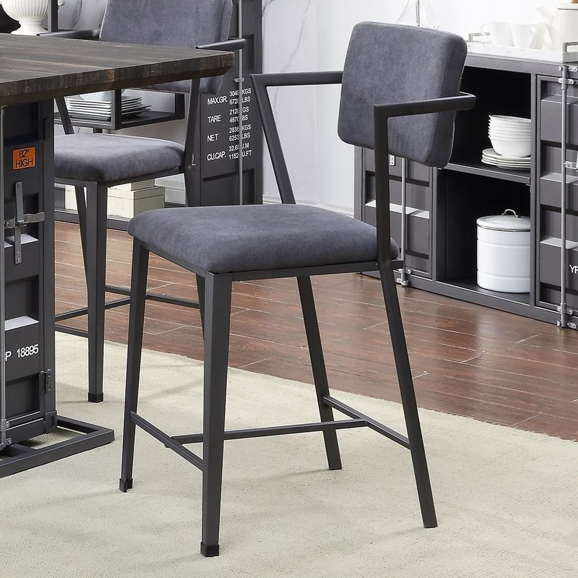 Cargo Counter Height Chair by Acme Furniture at A1 Furniture & Mattress