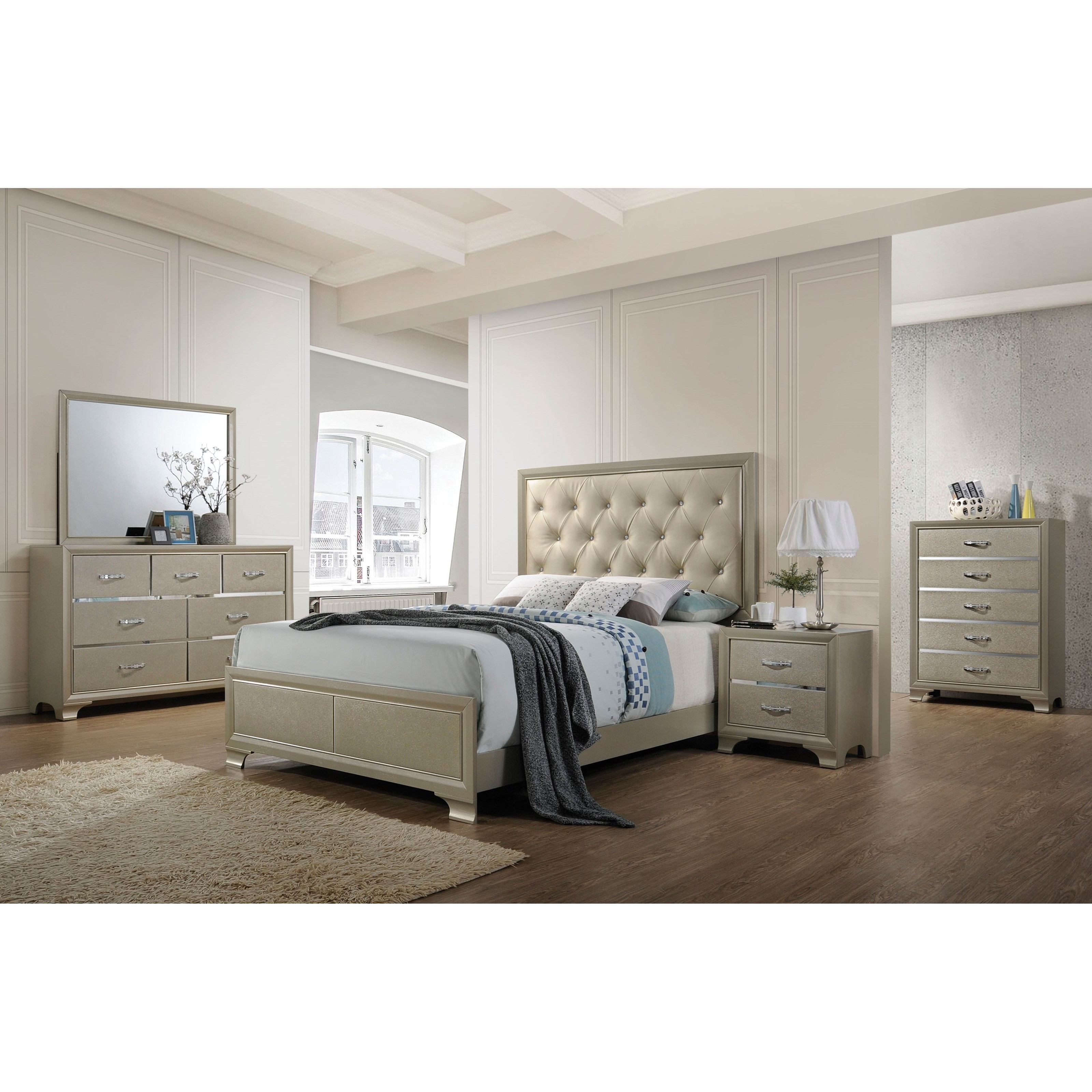 Carine King Bedroom Group by Acme Furniture at Carolina Direct