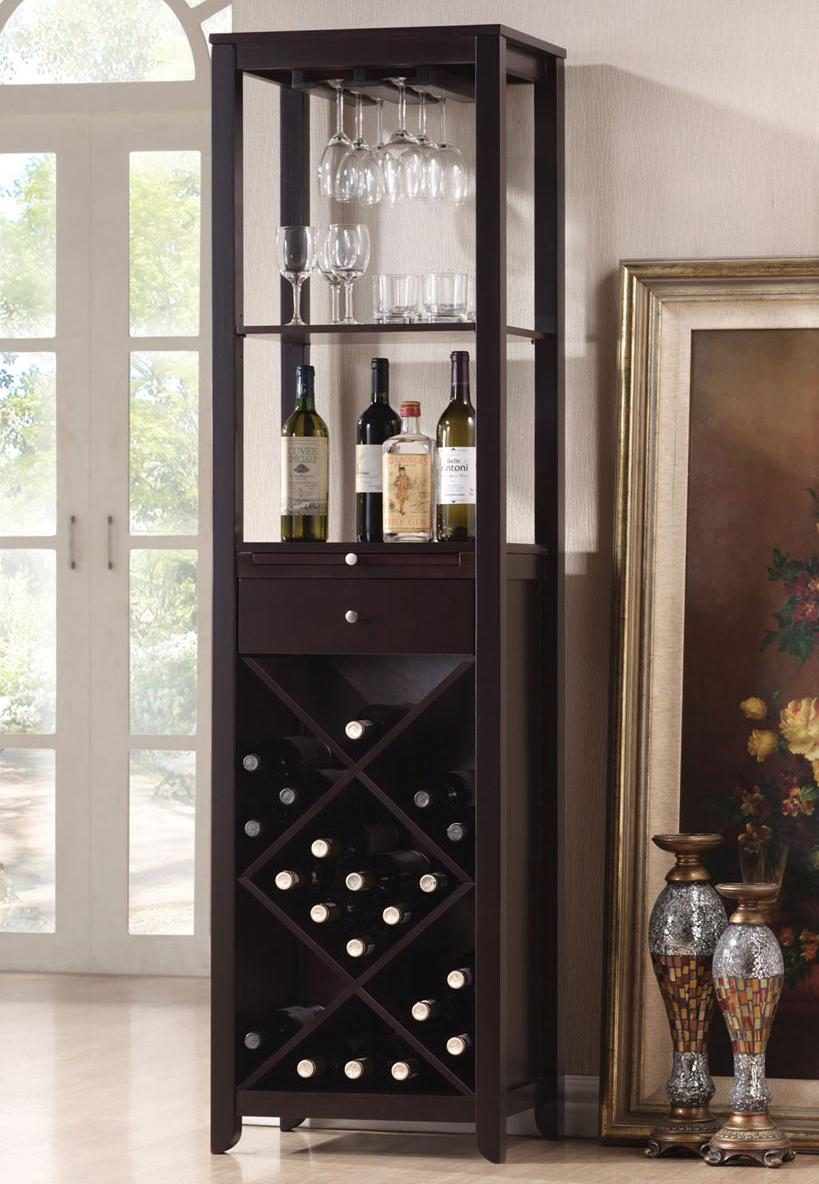 Casey Wenge Wine Cabinet Tower by Acme Furniture at Carolina Direct