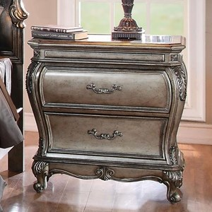 2 Drawer Nightstand with Granite Top