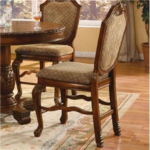 Fabric Upholstered Shield Back Counter Height Dining Chair