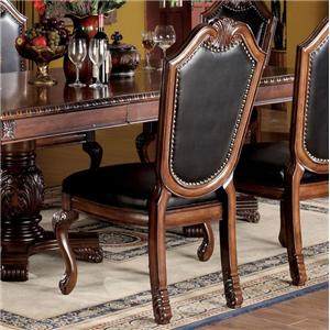 Dining Side Chair With Faux Leather Upholstered Seat And Back