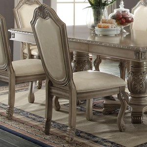Dining Side Chair With Fabric Upholstered Seat And Back