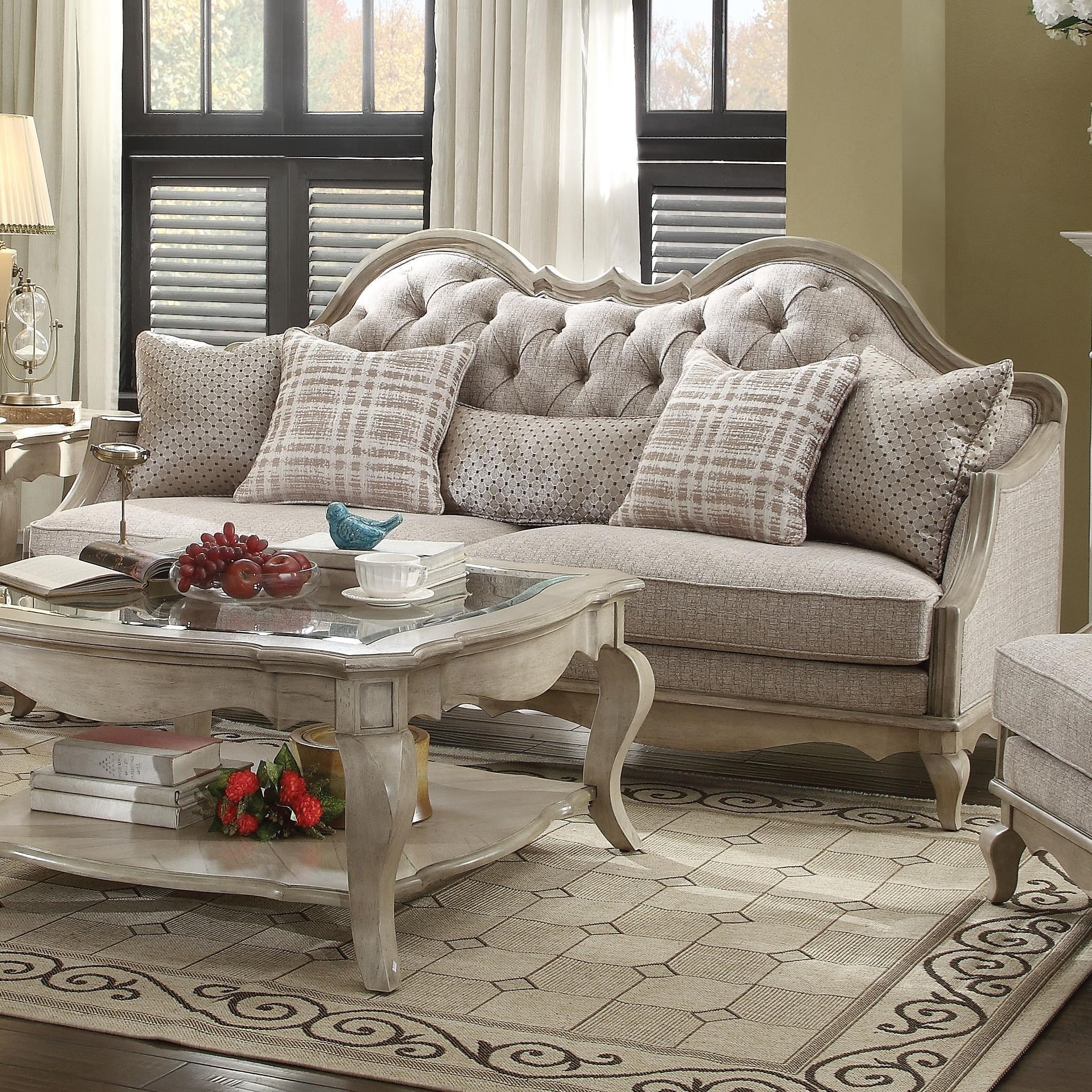 Chelmsford Sofa w/5 Pillows by Acme Furniture at Carolina Direct