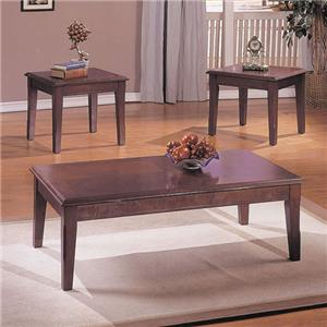 Merlot 3-Piece Set with Coffee Table and 2 End Tables
