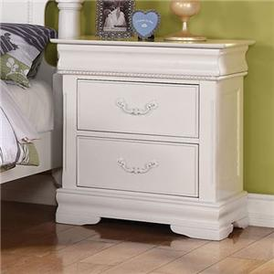 Traditional Nightstand with Hidden Drawer