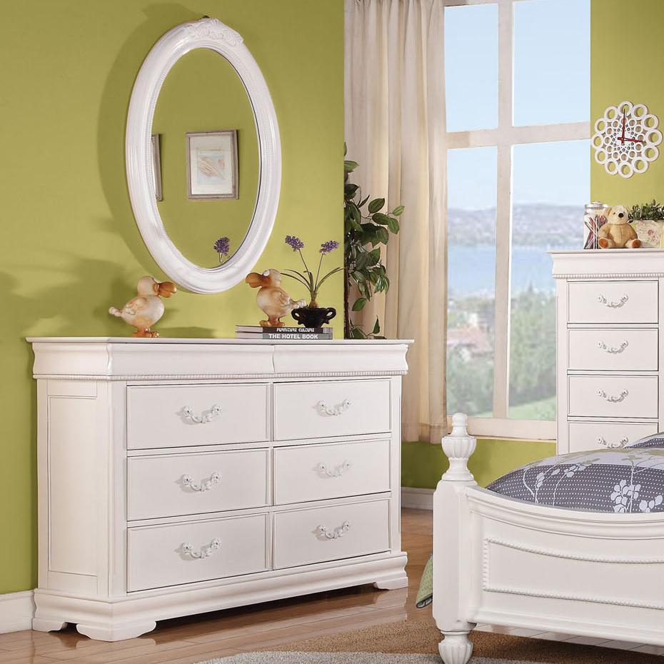Classique Dresser & Mirror by Acme Furniture at Corner Furniture