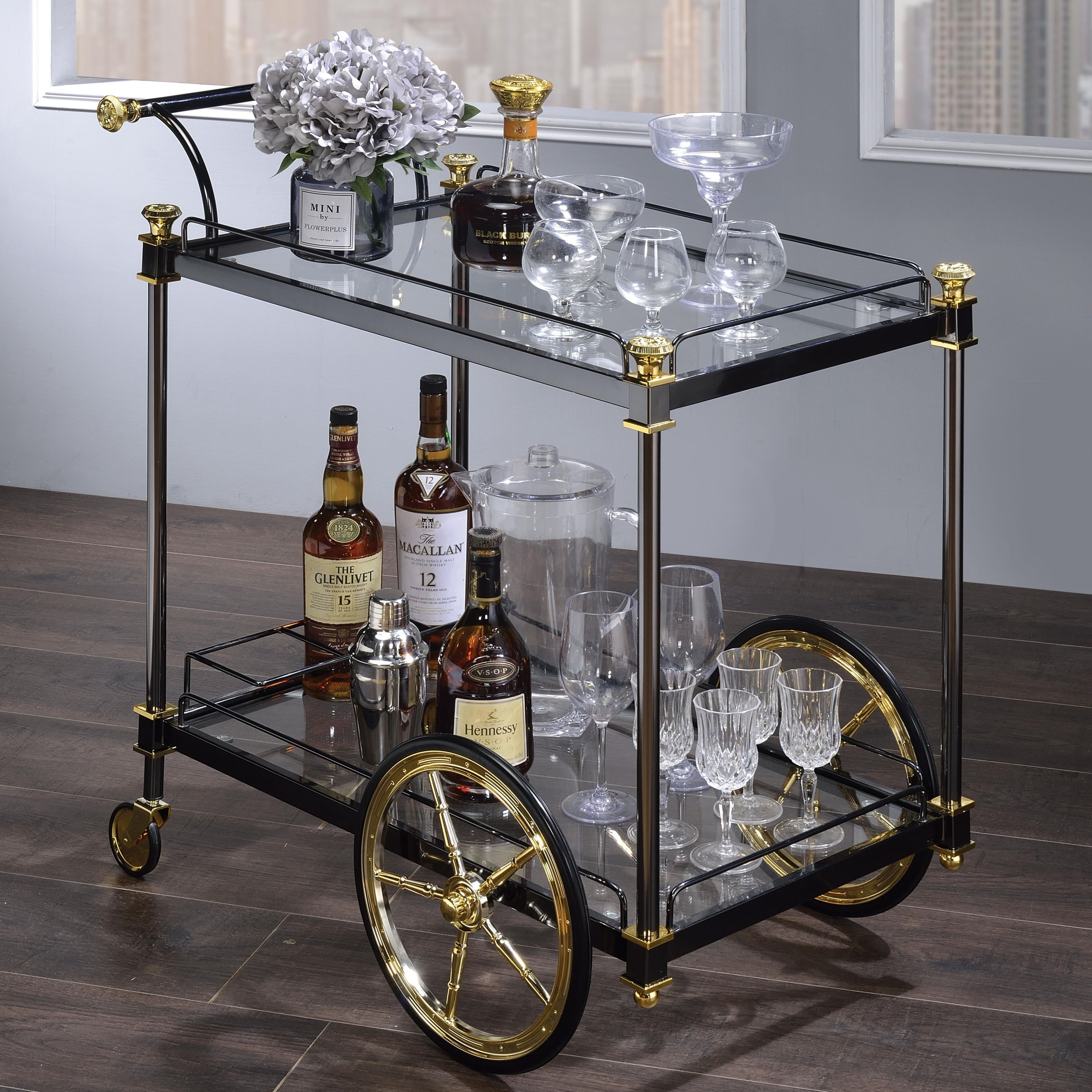 Cyrus Serving Cart by Acme Furniture at A1 Furniture & Mattress