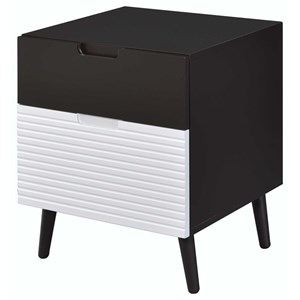 Mid-Century Modern Nightstand with Tapered Legs